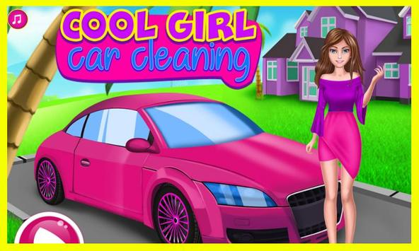 Cool Girl Car Cleaning poster