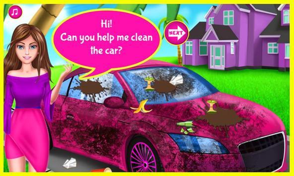 Cool Girl Car Cleaning screenshot 1