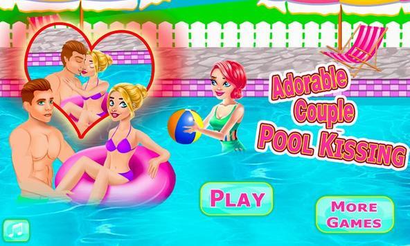 Adorable Couple Pool Kiss screenshot 10