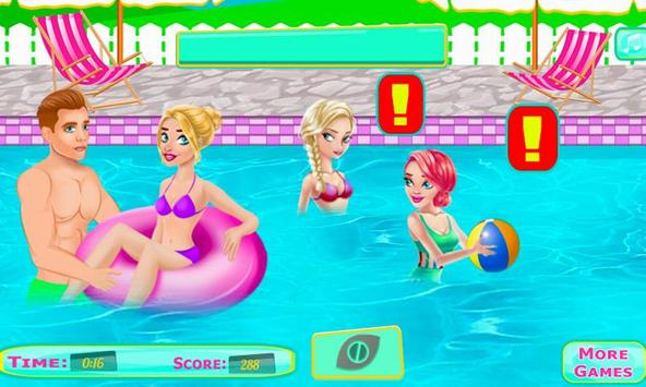 Adorable Couple Pool Kiss screenshot 18