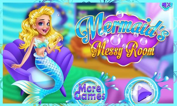 Mermaid Princess Messy Room poster