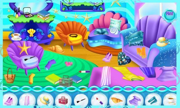 Mermaid Princess Messy Room screenshot 1