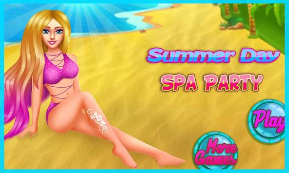 Summer Day Spa Party poster