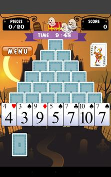 Pyramid Solitaire on Halloween apk screenshot