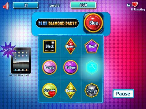 Blue Diamond Party screenshot 1