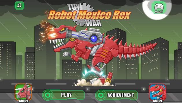Toy Robot Mexico Rex Dino War Affiche