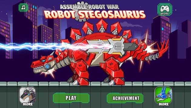 Assemble Robot War Stegosaurus poster