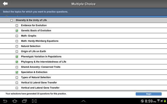 AP Exam Prep Biology LITE screenshot 5