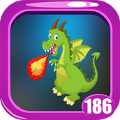 Fire Dragon Rescue Game Kavi - 186 icon