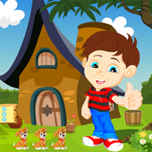 Boy Rescue From Forest House Kavi Escape Game-331 icon