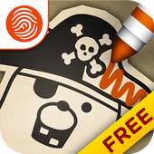 Pirate Scribblebeard Draw Free icon