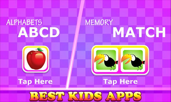 Kids Apps - A For Apple Learning & Fun Puzzle Game poster