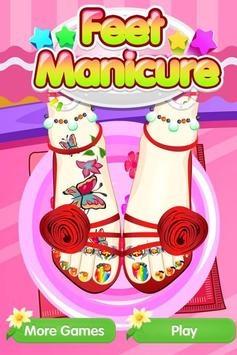 Feet Manicure - Girls Game poster