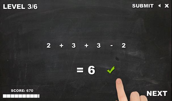 Plus or minus - Free Math Game screenshot 4