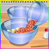 cooking games prepare salad icon