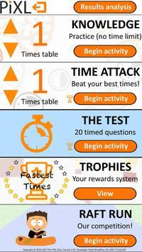 PiXL Times Tables poster