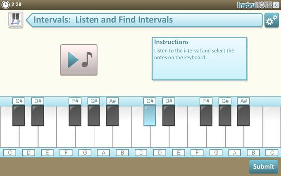InstruNOTE Ear and Interval apk screenshot