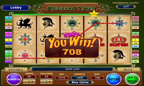 Medieval Times Slots apk screenshot