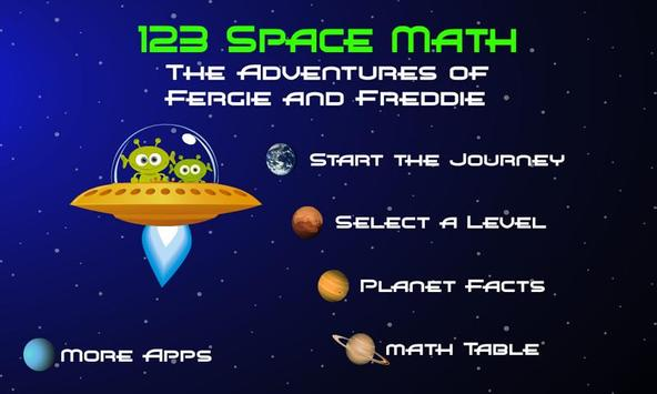 123 Space Math Lite poster