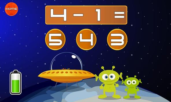 123 Space Math Lite apk screenshot