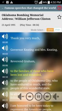 Learn English S plus, Famous English Speeches FREE apk screenshot
