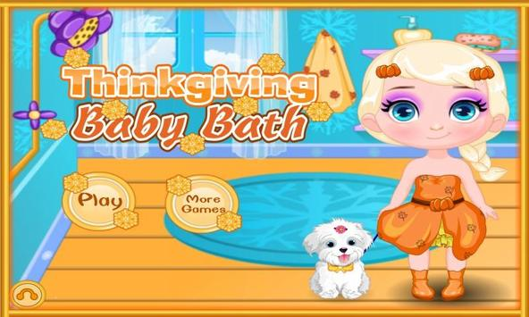Thinkgiving Baby Bath poster