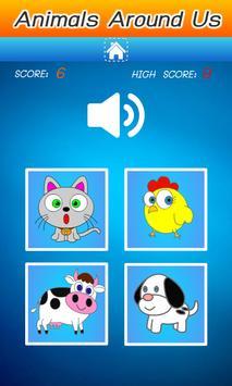 คำศัพท์ภาษาอังกฤษ สัตว์รอบตัว screenshot 3