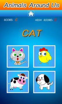 คำศัพท์ภาษาอังกฤษ สัตว์รอบตัว screenshot 4