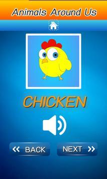 คำศัพท์ภาษาอังกฤษ สัตว์รอบตัว screenshot 7