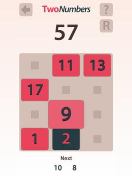 TwoNumbers apk screenshot