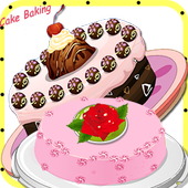Cooking in kitchen - Bake Cake icon