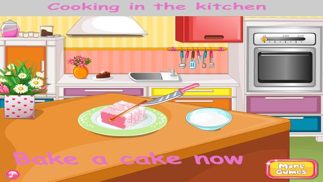 Cooking in kitchen - Bake Cake poster