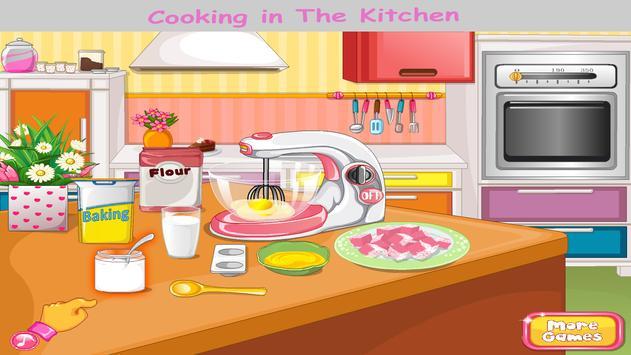 Cooking in kitchen - Bake Cake Cooking Games apk screenshot