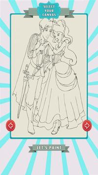 Prince and Princess Coloring poster