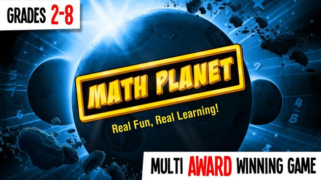 Math Planet - For Grades 1-8 poster
