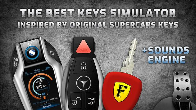 Keys and engine sounds of supercars poster