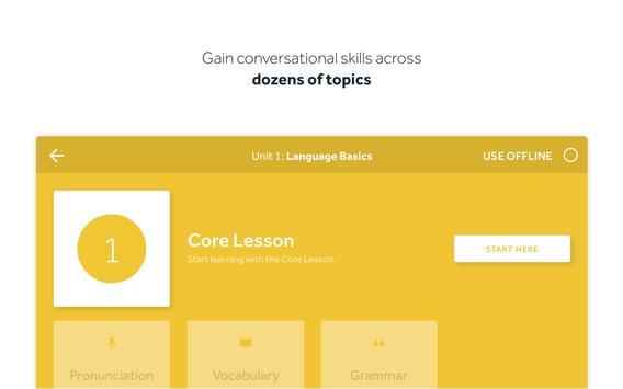 Rosetta Stone:学习说和读新语言 apk 截图