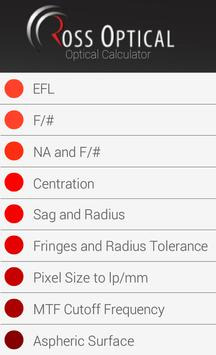 ROSS Optical Calculator apk screenshot