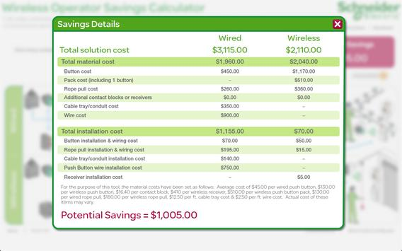 Wireless Savings Calculator apk screenshot