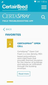 CertaSpray Troubleshooting App apk screenshot