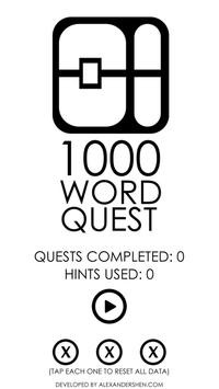 1000 Word Quest poster