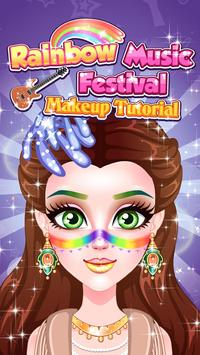 Rainbow Music Festival Makeup screenshot 9