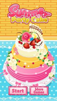 Summer Party Cake poster