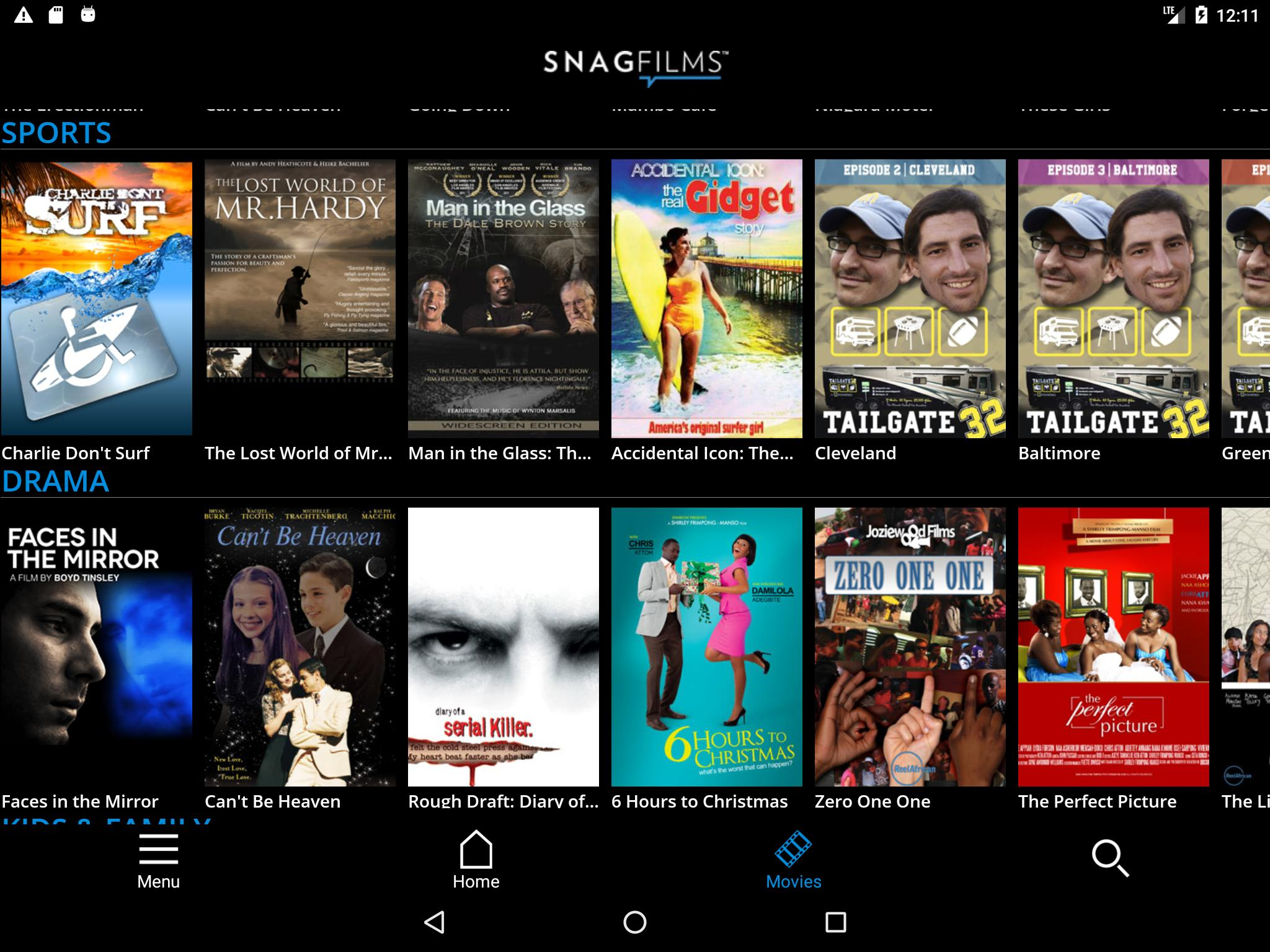 SnagFilms - Watch Free Movies for Android - APK Download