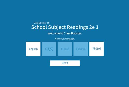 School Subject Readings 2nd_1 poster