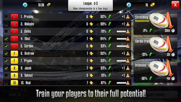 Rugby Manager apk screenshot