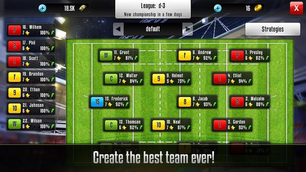 Rugby Manager screenshot 1