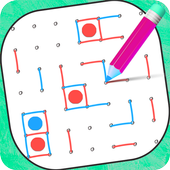 Free Dots and Boxes  - Squares  - Link Dots icon