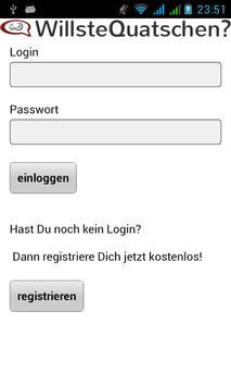 WQ WillsteQuatschen? Die App! poster
