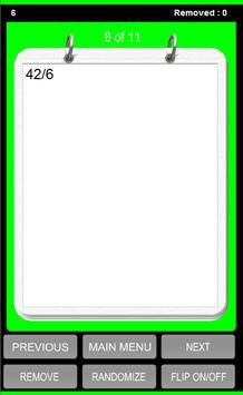 Division Tables Flash Cards apk screenshot